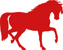 Image result for red cartoon horse